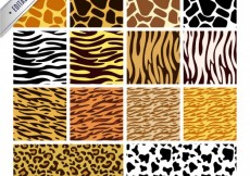 Free vector animal texture skin background vector material #6