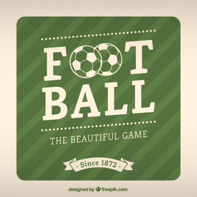 Free vector Football label #6