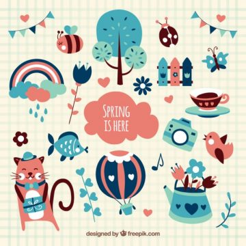 Free vector Illustrated spring elements #7
