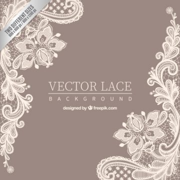 Free vector Ornamental lace background #1