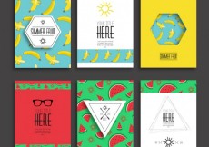 Free vector Summer fruits brochures #9
