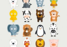 Free vector Funny animals collection #19