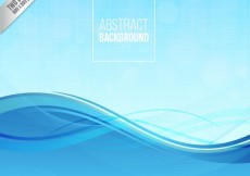 Free vector Abstract background with blue wave #790