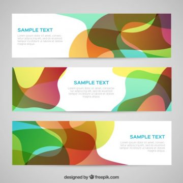 Free vector Abstract banners in colorful style #729