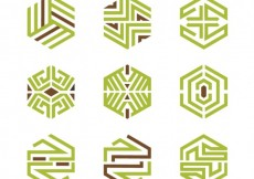 Free vector Abstract geometric logos #3272