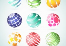 Free vector Abstract globes #763