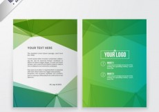 Free vector Abstract green brochure #806