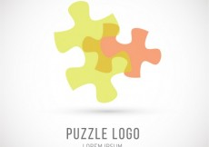 Free vector Abstract puzzle logo #3156