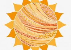 Free vector Abstract sun in arabic style #1118