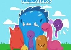 Free vector Adorable monsters #1804