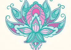 Free vector Arabic flower in abstract style #896
