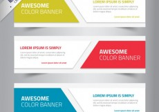 Free vector Awesome color banners #224
