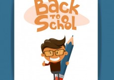 Free vector Back to school illustration with a kid #1747