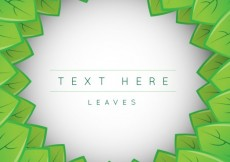 Free vector Background template with leaves #2143