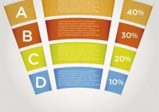 Free vector Banners curved infographic #1848