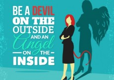 Free vector Be a devil on the outside #165