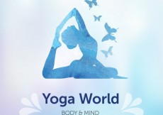 Free vector Blue silhoutte yoga background #3202