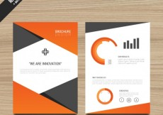 Free vector Brochure template with orange elements #553
