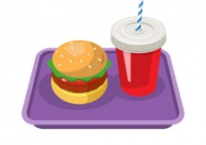 Free vector Burger and soft drink #1129