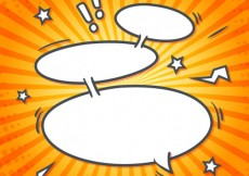 Free vector Cartoon speech bubbles #2937