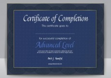 Free vector Certificate of completion #2696