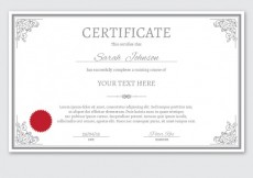 Free vector Certificate template in ornamental style #1481