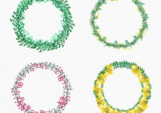Free vector Collection of floral wreaths #2306