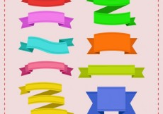 Free vector Colored ribbon banners #250