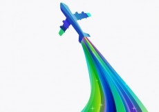 Free vector Colorful airplane in abstract style #1241