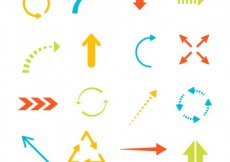 Free vector Colorful arrows collection #632