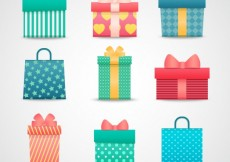 Free vector Colorful gift boxes #3760
