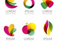 Free vector Colorful logos in abstract style #735