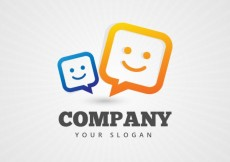 Free vector Company logo with a speech bubbles #2439
