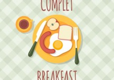 Free vector Complet breakfast #1374