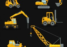 Free vector Construction crane collection #1055