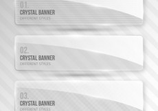 Free vector Crystal banners #2902