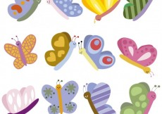 Free vector Cute butterflies illustration #2337