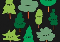 Free vector Cute trees #346