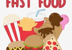 Free vector Fast food illustration #3115