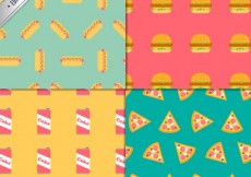 Free vector Fast food patterns #984