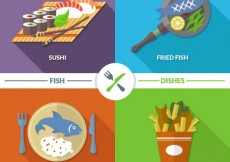 Free vector Fish dishes #3688