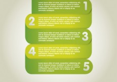 Free vector Five infographics steps #1937