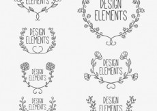 Free vector Floral ornaments #2089