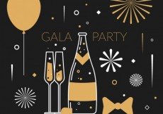 Free vector gala party #1930