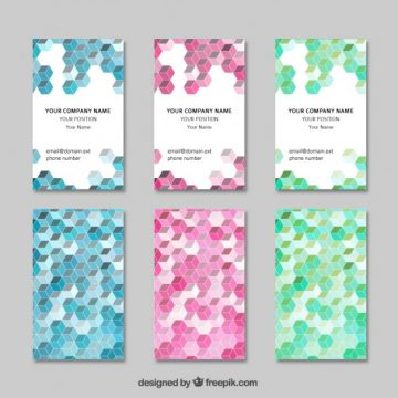 Free vector Geometric visit cards #733