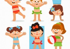 Free vector Girls with swimsuits #77