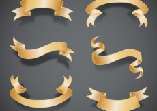 Free vector Golden ribbon banners #1362