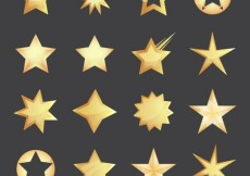 Free vector Golden stars collection #3468