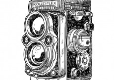 Free vector Hand drawn antique camera #349