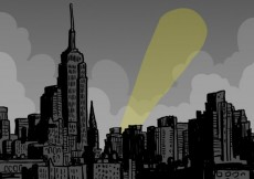 Free vector Hand drawn city in comic style #605